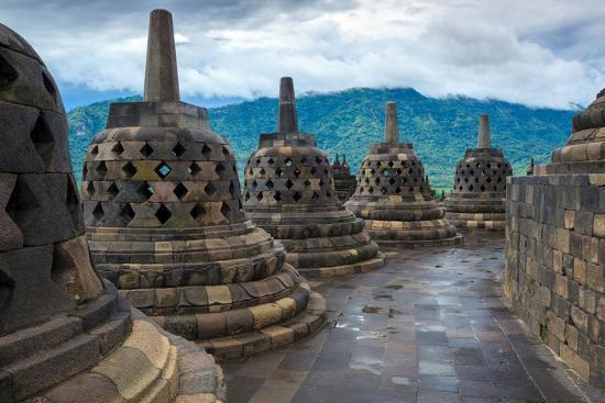 Borobudur Buddist Temple Yogyakarta. Java, Indonesia-lkunl-Photographic Print
