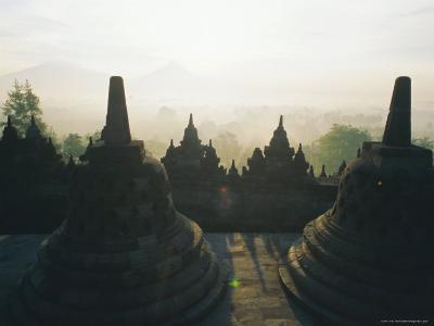 Borobudur, Java, Indonesia-J P De Manne-Photographic Print