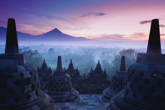 Borobudur Temple, Yogyakarta, Java, Indonesia.- pigprox-Photographic Print