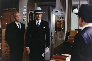 Borsalino and Co by Jacques Deray with Daniel Ivernel and Alain Delon, 1974 (photo)