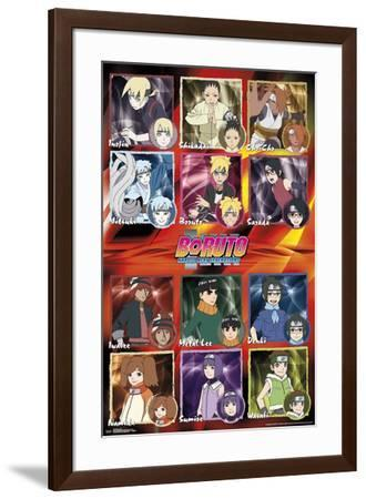 Boruto - Grid--Framed Poster
