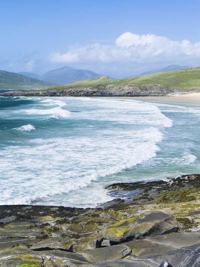Borve Beach on South Harris in Stormy Weather, Scotland-Martin Zwick-Photographic Print
