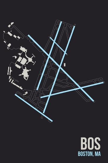 BOS Airport Layout-08 Left-Giclee Print