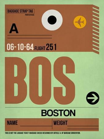 BOS Boston Luggage Tag 1-NaxArt-Art Print