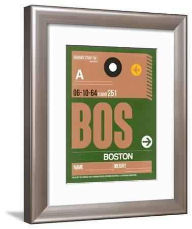 BOS Boston Luggage Tag 1-NaxArt-Framed Art Print