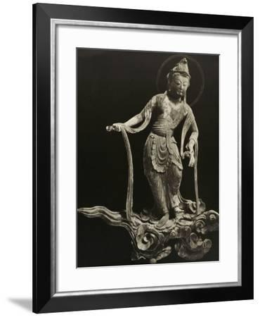 Bosatsu Playing Musical Instrument, from the 11th Century, Late Heian Period, Byodo-In, Kyoto, 1950--Framed Photographic Print