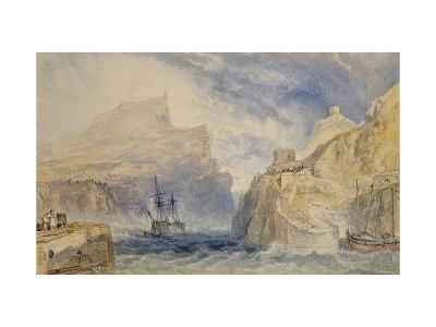 Boscastle, Cornwall, C.1824 (Watercolour over Graphite with Pen and Black Ink)-J^ M^ W^ Turner-Giclee Print