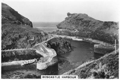 Boscastle Harbour, Cornwall, 1937--Giclee Print