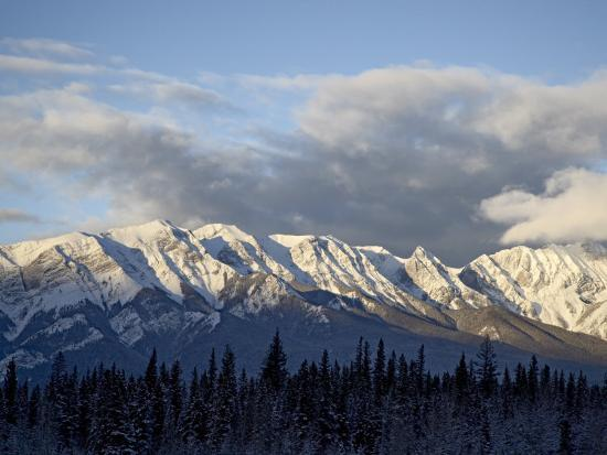 Bosche Range in Winter, Jasper National Park, Rocky Mountains, Alberta, Canada-James Hager-Photographic Print