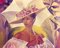 Woman with Parasol-Boscoe Holder-Art Print