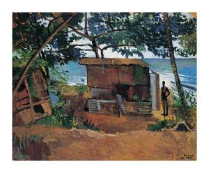 Hut by the Sea by Boscoe Holder