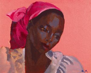 Lady in a Pink Headtie, 1995 by Boscoe Holder