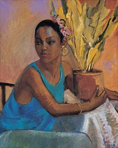 Lisa in Turquoise by Boscoe Holder
