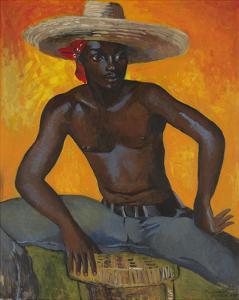 Man in a Straw Hat II by Boscoe Holder
