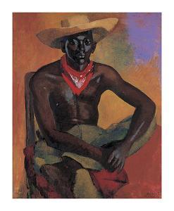 Man in Straw Hat by Boscoe Holder