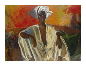 Seated in White by Boscoe Holder