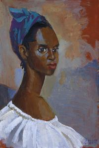 Turquoise Headscarf by Boscoe Holder