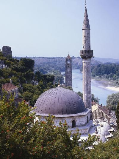Bosnia, Pocitelj, Neretva, Mosque-Thonig-Photographic Print