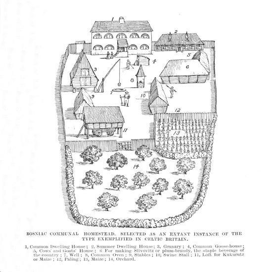 'Bosniac Communal Homestead', 1902-Unknown-Giclee Print