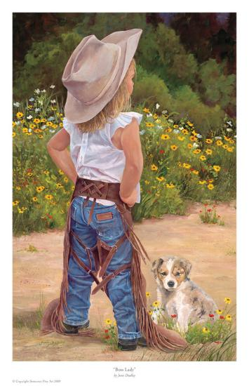 Boss Lady-June Dudley-Art Print