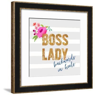 Boss Lady-Bella Dos Santos-Framed Art Print
