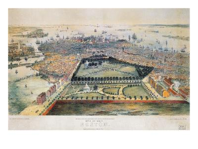Boston, 1850-John Bachmann-Premium Giclee Print