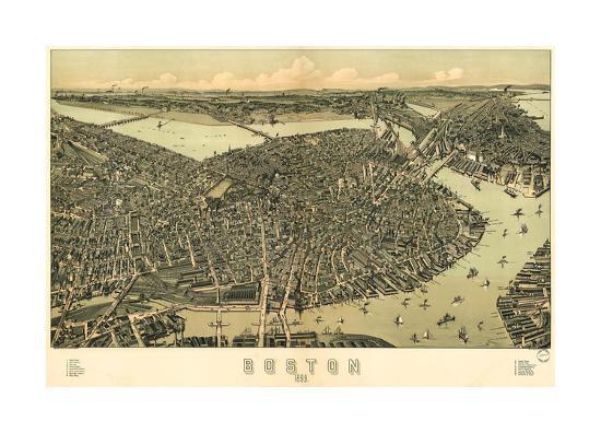 Boston - 1899-Bill Cannon-Giclee Print