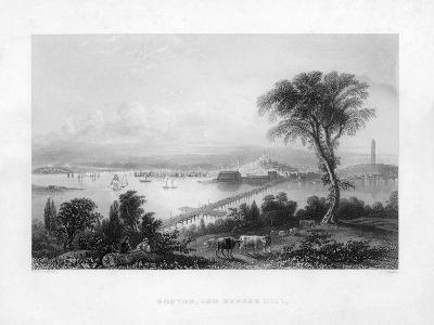 Boston, and Bunker Hill, C1820-C Cousen-Giclee Print