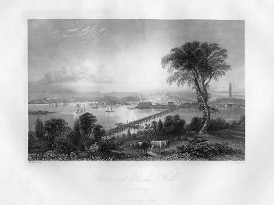 Boston and Bunker Hill, Massachusetts, 1855-FO Freeman-Giclee Print