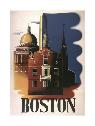 Boston Architecture--Giclee Print