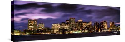 Boston At Dusk--Stretched Canvas Print