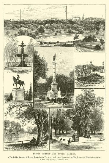 Boston Common and Public Garden--Giclee Print