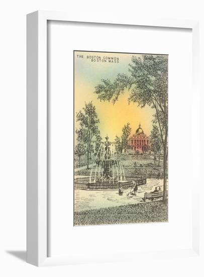 Boston Common, Boston, Mass.--Framed Art Print
