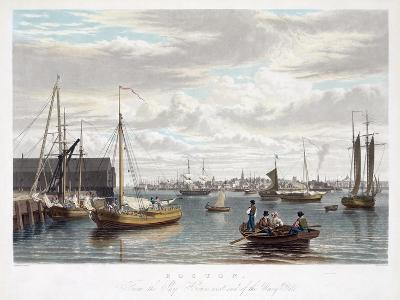 Boston, from the Ship House, West End of the Navy Yard, C.1833-William James Bennett-Giclee Print