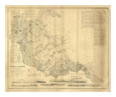 Boston Harbor, Massachusetts, c.1857--Art Print
