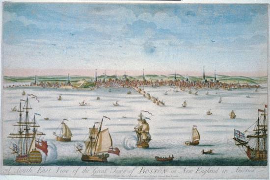 Boston in 1750-John J. Carwitham-Art Print