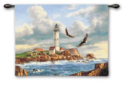 Boston Lighthouse-Rudi Reichardt-Wall Tapestry