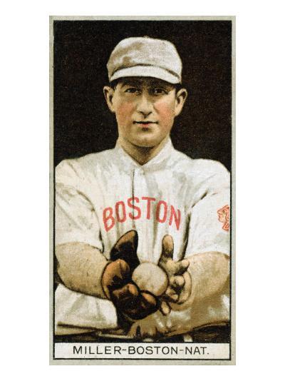 Boston, MA, Boston Braves, Edward McDonald, Baseball Card-Lantern Press-Art Print