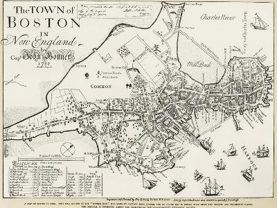 Boston Map, 1722-George G^ Smith-Giclee Print