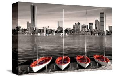 Boston Marina--Stretched Canvas Print