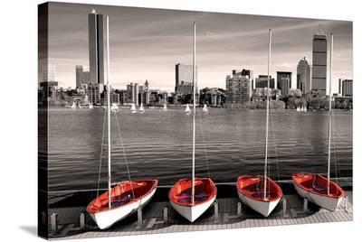 Boston Marina--Stretched Canvas Print