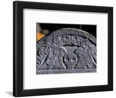 Boston, Massachusetts, Colonial Tombstone on Freedom Trail-Richard Nowitz-Framed Photographic Print