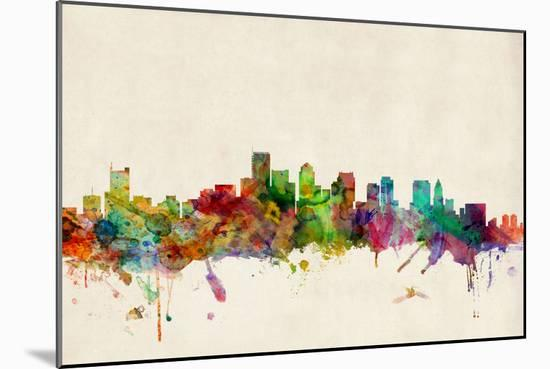 Boston Massachusetts Skyline-Michael Tompsett-Mounted Art Print