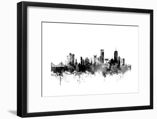 Boston Massachusetts Skyline-Michael Tompsett-Framed Art Print