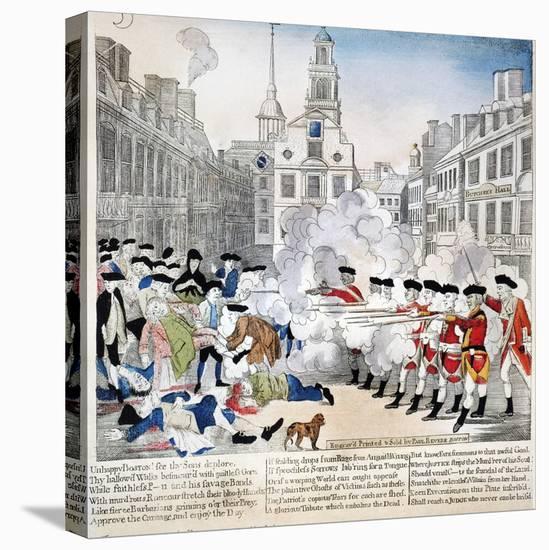 Boston Massacre, 1770-Paul Revere-Stretched Canvas Print