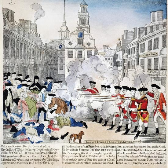 Boston Massacre, 1770-Paul Revere-Giclee Print
