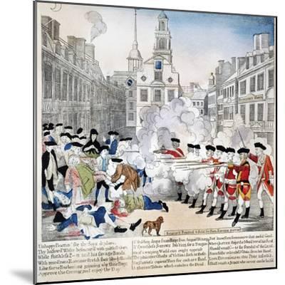 Boston Massacre, 1770-Paul Revere-Mounted Giclee Print