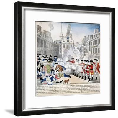 Boston Massacre, 1770-Paul Revere-Framed Giclee Print