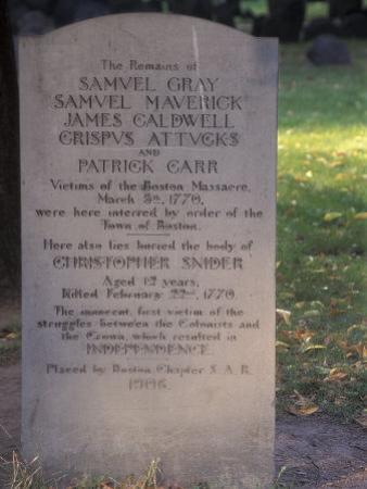 Boston Massacre Victims' Grave in the Old Granary Burying-Ground, Boston, Massachusetts