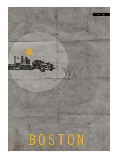 Boston Poster-NaxArt-Art Print